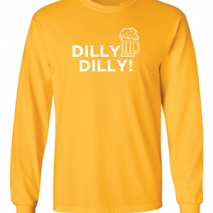 Dilly Dilly Beer, Yellow/White, Long-Sleeved
