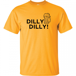 Dilly Dilly Beer, Yellow/Black, T-Shirt