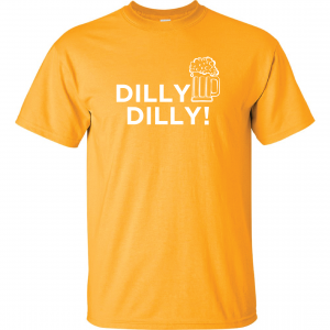 Dilly Dilly Beer, Yellow/White, T-Shirt