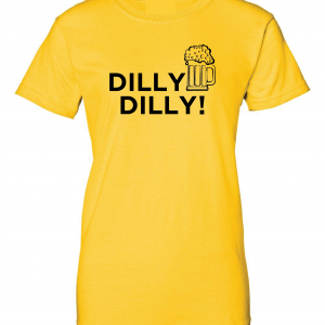Dilly Dilly Beer, Yellow/Black, Women's Cut T-Shirt