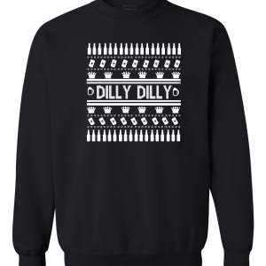 Dilly Dilly Ugly Christmas Sweater, Black, Crew Sweatshirt