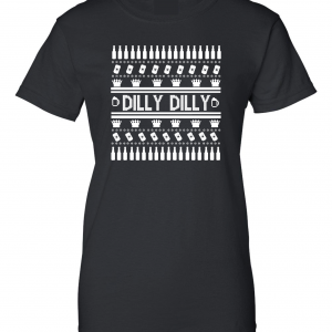 Dilly Dilly Ugly Christmas Sweater, Black, Women's Cut T-Shirt