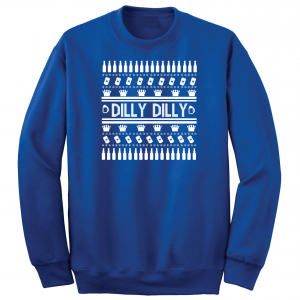 Dilly Dilly Ugly Christmas Sweater, Royal Blue, Crew Sweatshirt