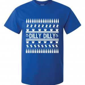 Dilly Dilly Ugly Christmas Sweater, Royal Blue, T-Shirt