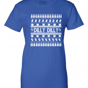 Dilly Dilly Ugly Christmas Sweater, Royal Blue, Women's Cut T-Shirt