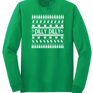 Dilly Dilly Ugly Christmas Sweater, Green, Long-Sleeved