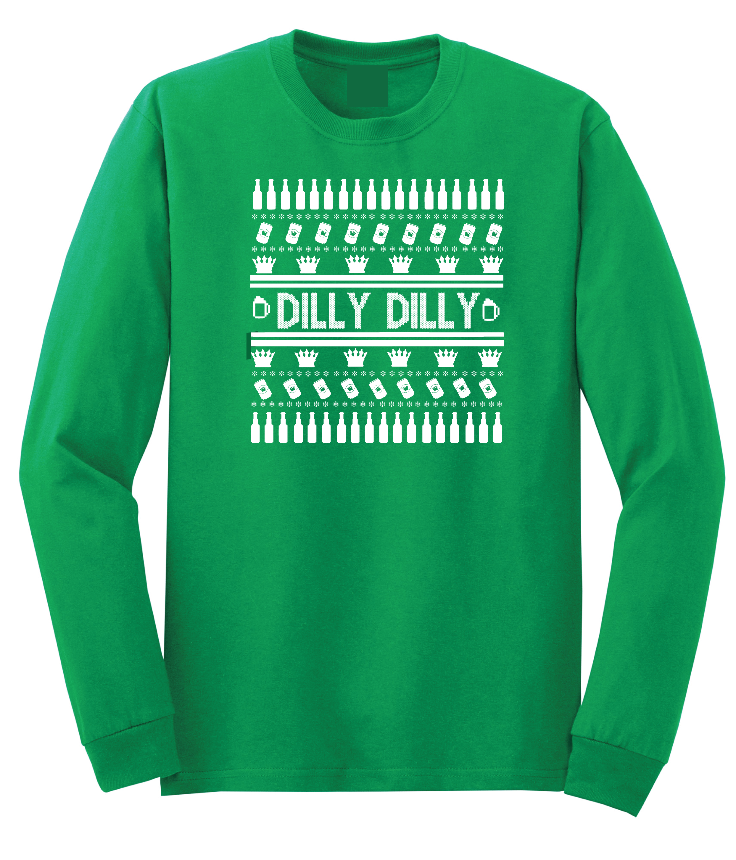 dilly dilly ugly christmas sweater green long sleeved