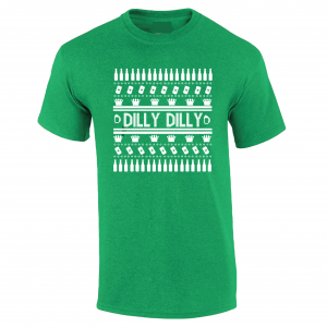 Dilly Dilly Ugly Christmas Sweater, Green, T-Shirt