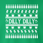 Dilly Dilly Ugly Christmas Sweater, Long-Sleeved, T-Shirt, Crew Sweatshirt, Women's Cut T-Shirt