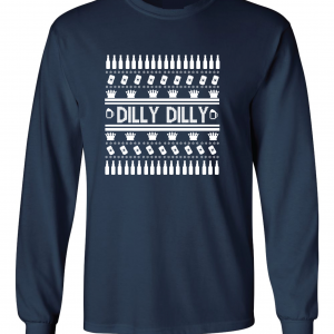 Dilly Dilly Ugly Christmas Sweater, Navy, Long-Sleeved