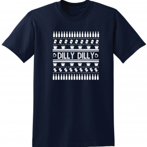Dilly Dilly Ugly Christmas Sweater, Navy, T-Shirt