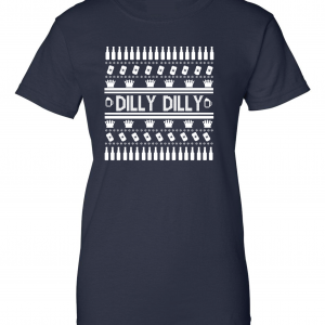 Dilly Dilly Ugly Christmas Sweater, Navy, Women's Cut T-Shirt