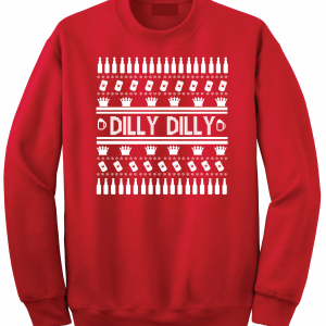 Dilly Dilly Ugly Christmas Sweater, Red, Crew Sweatshirt