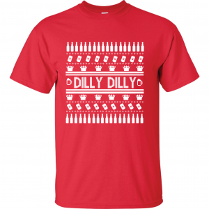 Dilly Dilly Ugly Christmas Sweater, Red, T-Shirt