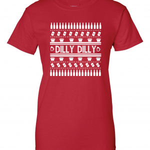 Dilly Dilly Ugly Christmas Sweater, Red, Women's Cut T-Shirt