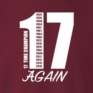 17 Alabama Championships, Hoodie, Long-Sleeved, T-Shirt, Crew Sweatshirt, Women's Cut T-Shirt