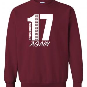 17 Alabama Championships, Maroon, Crew Sweatshirt