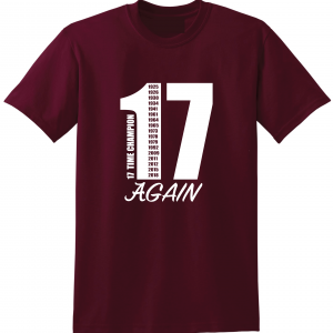 17 Alabama Championships, Maroon, T-Shirt