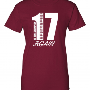 17 Alabama Championships, Maroon, Women's Cut T-Shirt