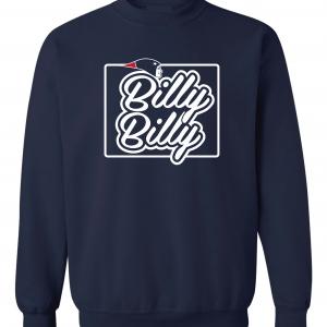 Billy Billy - New England Patriots, Navy, Crew Sweatshirt