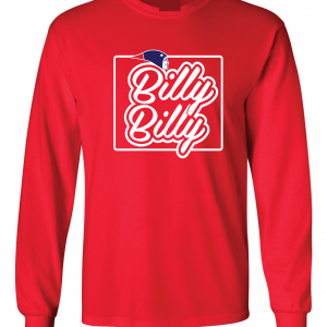 Billy Billy - New England Patriots, Red, Long-Sleeved