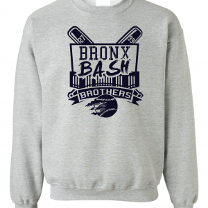Bronx Bash Brothers - Yankees, Grey, Crew Sweatshirt