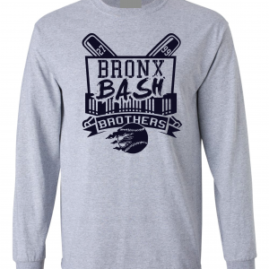 Bronx Bash Brothers - Yankees, Grey, Long-Sleeved