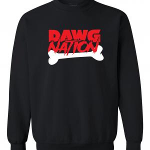 Dawg Nation - Georgia Bulldogs, Black, Crew Sweatshirt