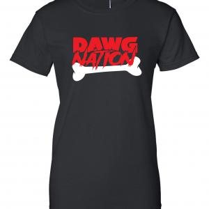 Dawg Nation - Georgia Bulldogs, Black, Women's Cut T-Shirt
