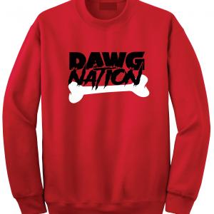 Dawg Nation - Georgia Bulldogs, Red, Crew Sweatshirt