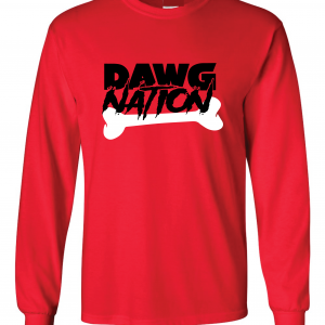 Dawg Nation - Georgia Bulldogs, Red, Long-Sleeved