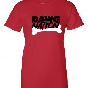 Dawg Nation - Georgia Bulldogs, Red, Women's Cut T-Shirt