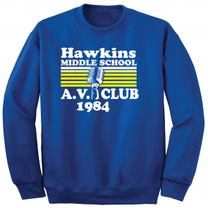 Hawkins Middle School AV Club - Stranger Things, Royal Blue, Crew Sweatshirt