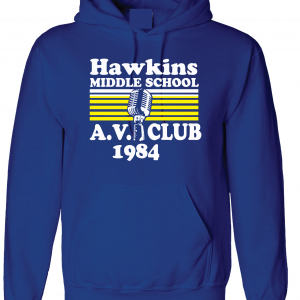 Hawkins Middle School AV Club - Stranger Things, Royal Blue, Hoodie