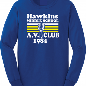Hawkins Middle School AV Club - Stranger Things, Royal Blue, Long-Sleeved