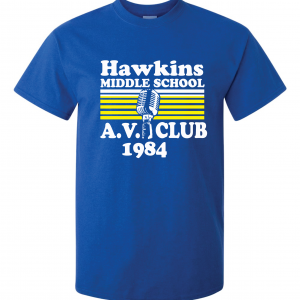 Hawkins Middle School AV Club - Stranger Things, Royal Blue, T-Shirt