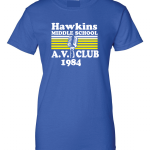 Hawkins Middle School AV Club - Stranger Things, Royal Blue, Women's Cut T-Shirt