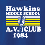 Hawkins Middle School AV Club - Stranger Things, Hoodie, Long-Sleeved, T-Shirt, Crew Sweatshirt, Women's Cut T-Shirt