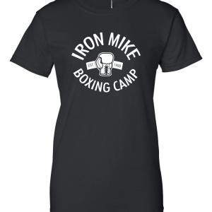 Iron Mike Boxing Camp, Black, Women's Cut T-Shirt