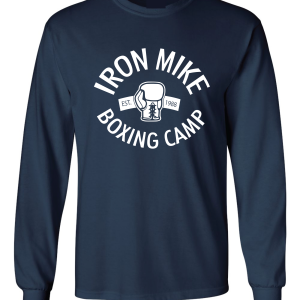 Iron Mike Boxing Camp, Navy, Long-Sleeved