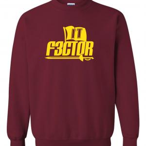 IT F3ctor - Isaiah Thomas - Cleveland, Maroon, Crew Sweatshirt
