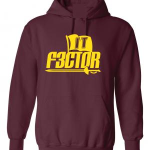 IT F3ctor - Isaiah Thomas - Cleveland, Maroon, Hoodie