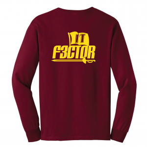 IT F3ctor - Isaiah Thomas - Cleveland, Maroon, Long-Sleeved