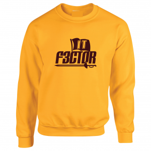 IT F3ctor - Isaiah Thomas - Cleveland, Gold, Crew Sweatshirt