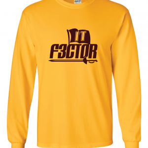 IT F3ctor - Isaiah Thomas - Cleveland, Gold, Long-Sleeved