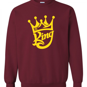 King James 23, Maroon, Crew Sweatshirt