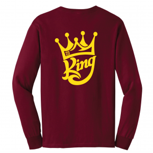 King James 23, Maroon, Long-Sleeved