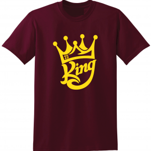 King James 23, Maroon, T-Shirt