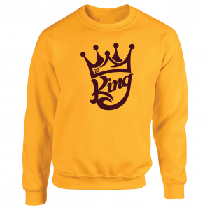 King James 23, Gold, Crew Sweatshirt