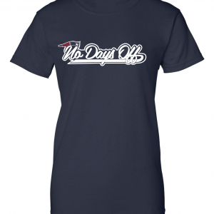 No Days Off - New England Patriots, Navy, Women's Cut T-Shirt